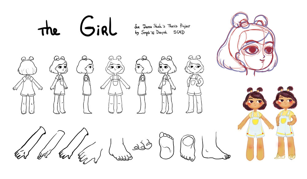 The Girl Character Design for an animation film directed by Jahnvi Shah