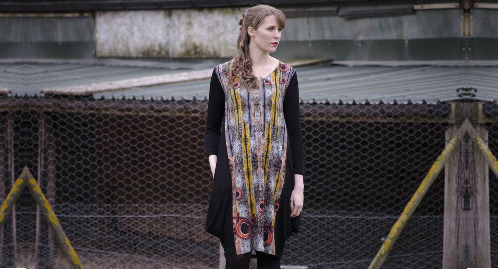 Lichen Stones balloon dress