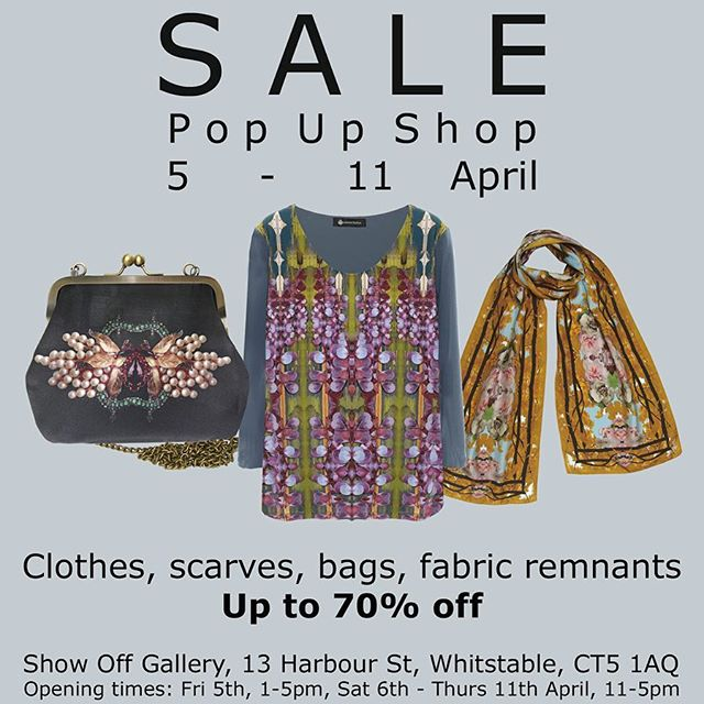 My sale pop up shop on now till Thursday! Pop in if you're in the area. X