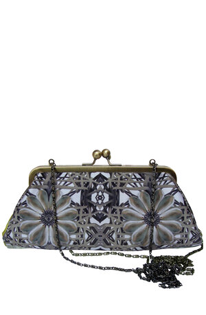 46ef8bcf38 Elastic Pearl Large Printed Silk Handbag Clutch - (last one) ...