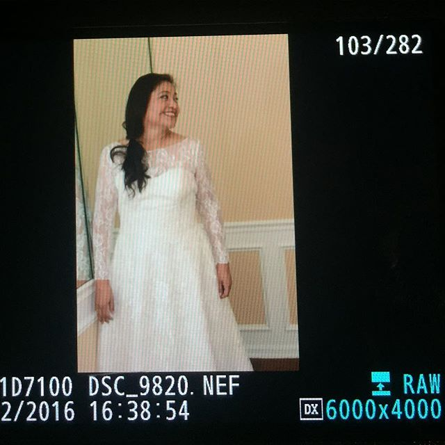 Back of camera preview from the wedding today! Linda was a beautiful bride. #burstonwithlove