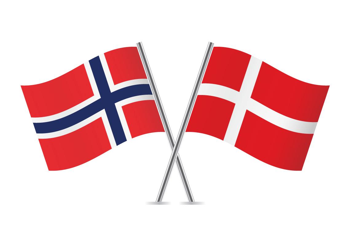 Bilderesultat for norsk dansk flagg