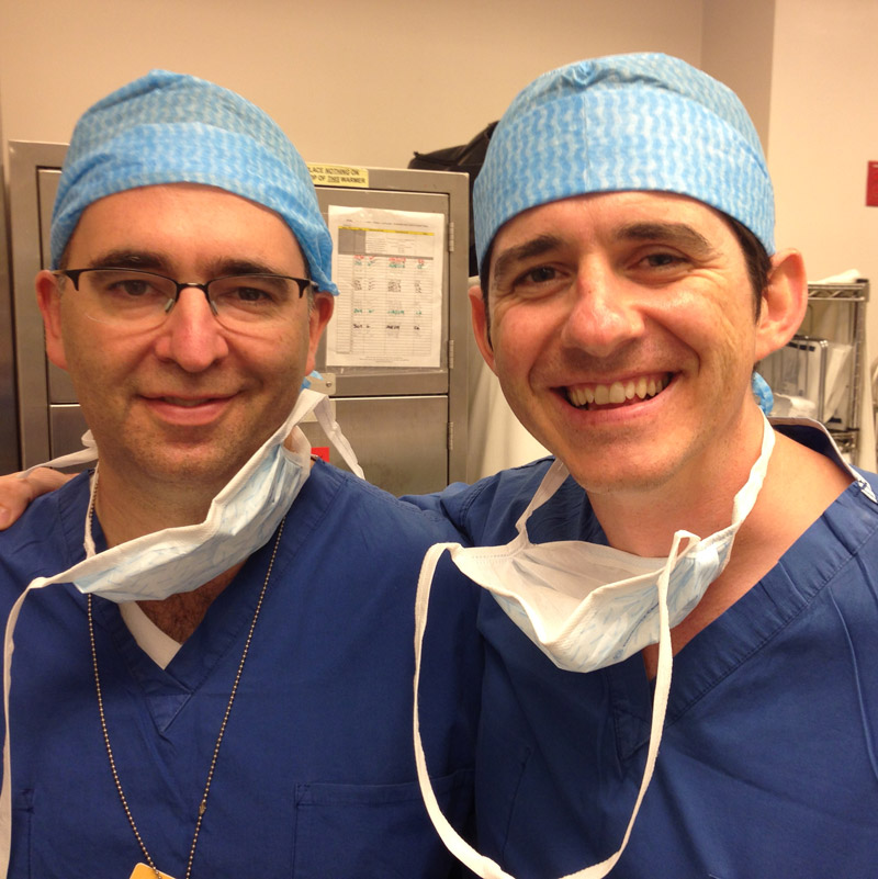 With Justin Sacks MD, Johns Hopkins Hospital - 2014