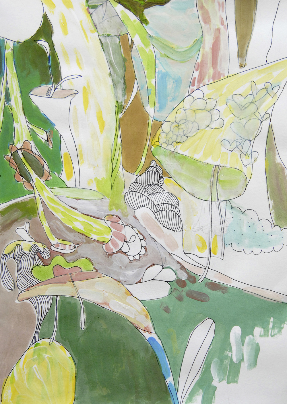 Regenwald Zeichnung