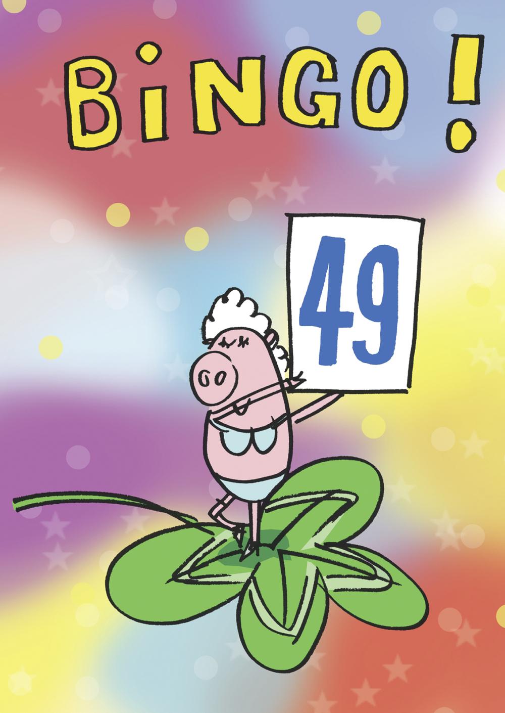 Geburtstagskarte Bingo «49»