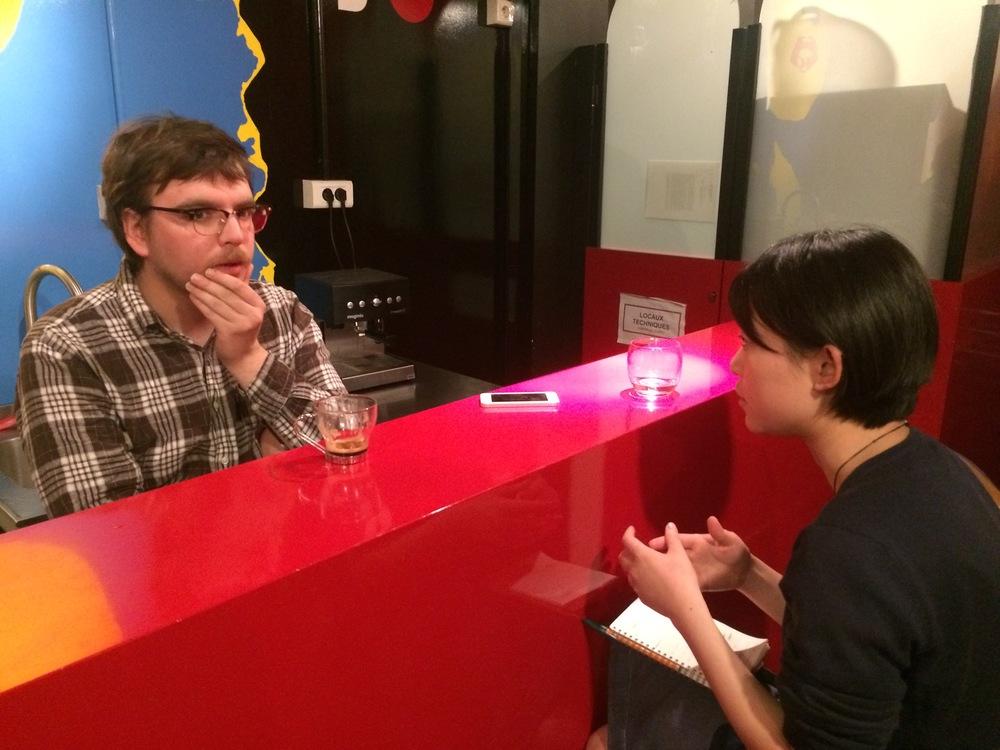 巴黎艺术院线策展人Victor Bournerias接受深焦记者采访