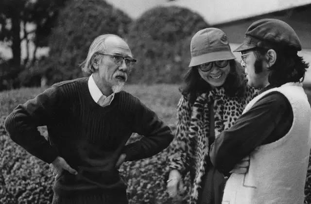 铃木清顺和原田芳雄、大楠道代。 东京日比谷,1981年2月26日