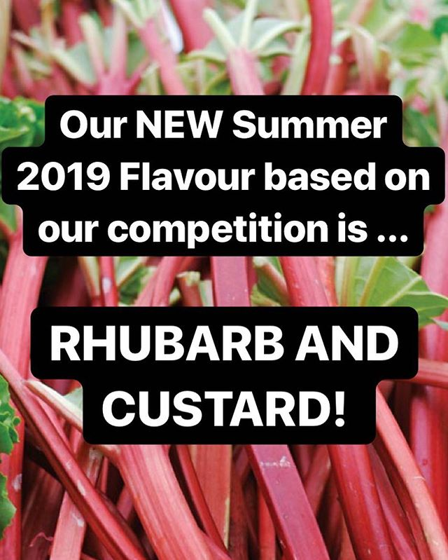 Our NEW 2019 Summer Flavour based on our competition is ... RHUBARB AND CUSTARD! - ( the winner has been emailed ) 🥳  We'd just like to say a huge thank you to all of those who entered the competition with their weird and wonderful flavour entries! Please keep checking your emails as we are sending something soon to thank you 🤫  I hope you're all as excited as we are for this flavour! #lakenhamcreamery #announcement #newflavour #competition #award #exciting #summer #norwich #norfolk #norwichnom #norwichfood #norwichfoodies #winner #rhubarbandcustard #newflavour #bighit