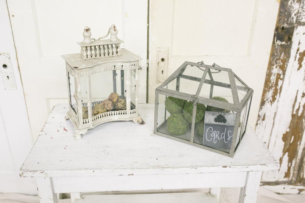 Glass Terrarium and Lantern