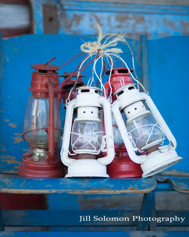 Red & White Lanterns~Rental $5 each