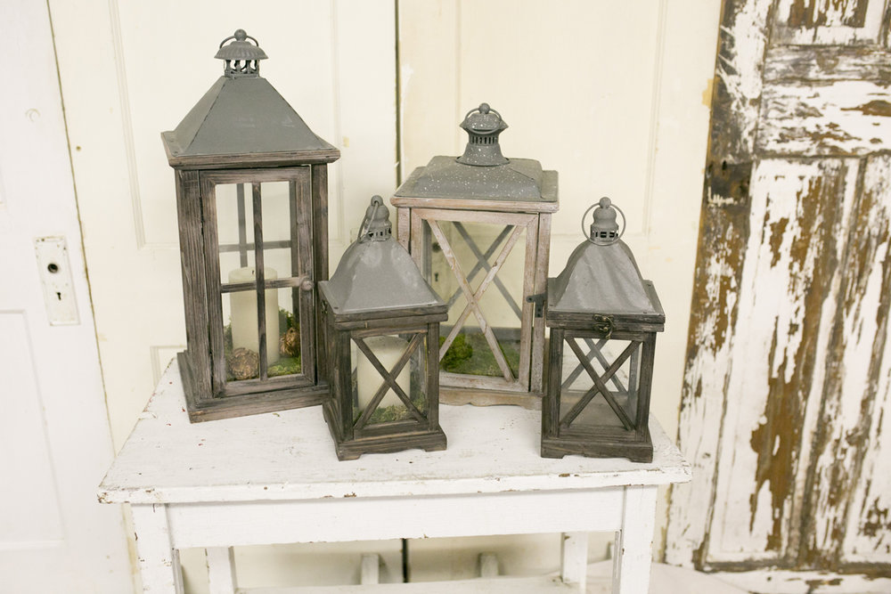 Wood Lanterns~Rental $10-25 each