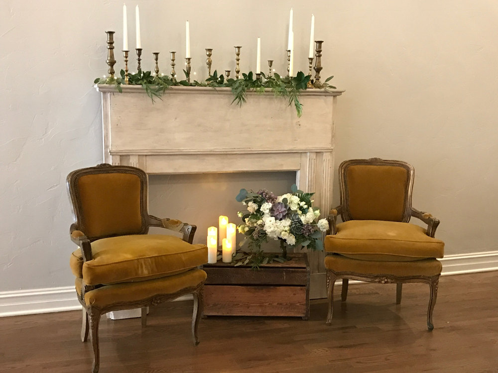 French Gold Chairs