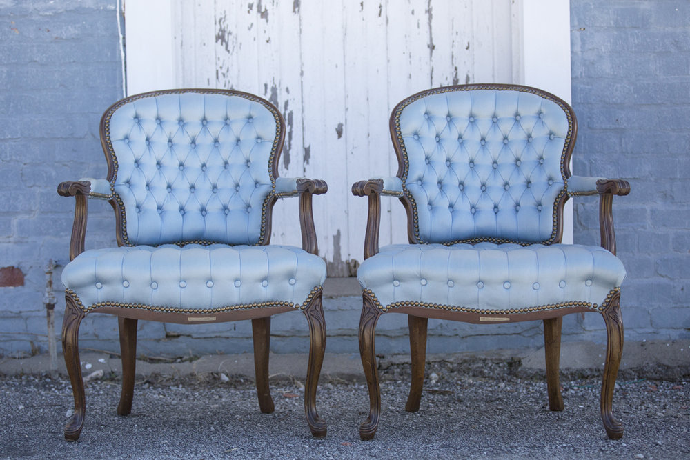 French Blue Chairs