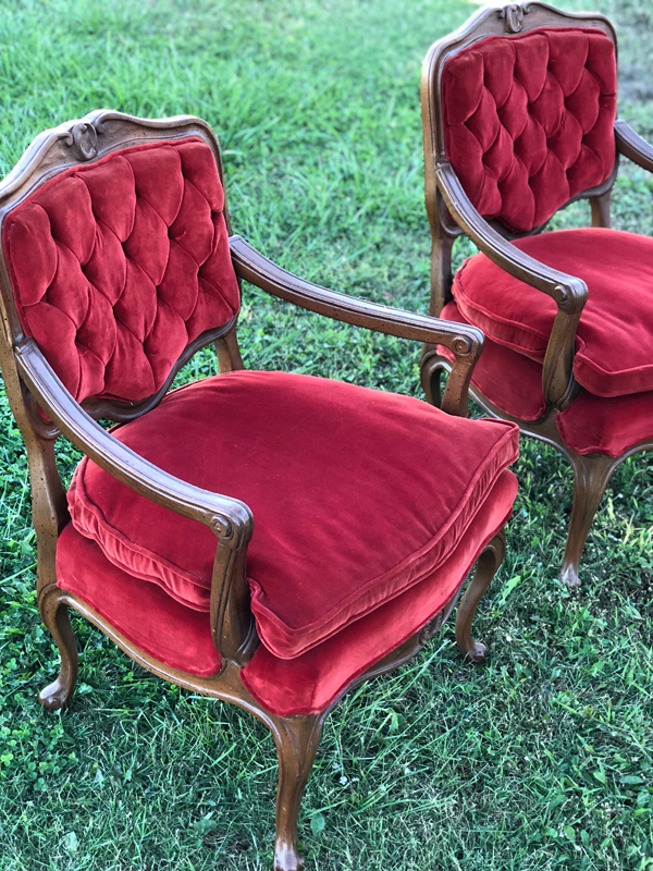 Red Velvet Chairs~$30 each