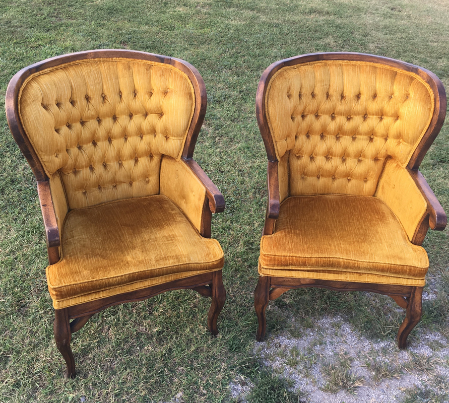 Highback Gold Chairs