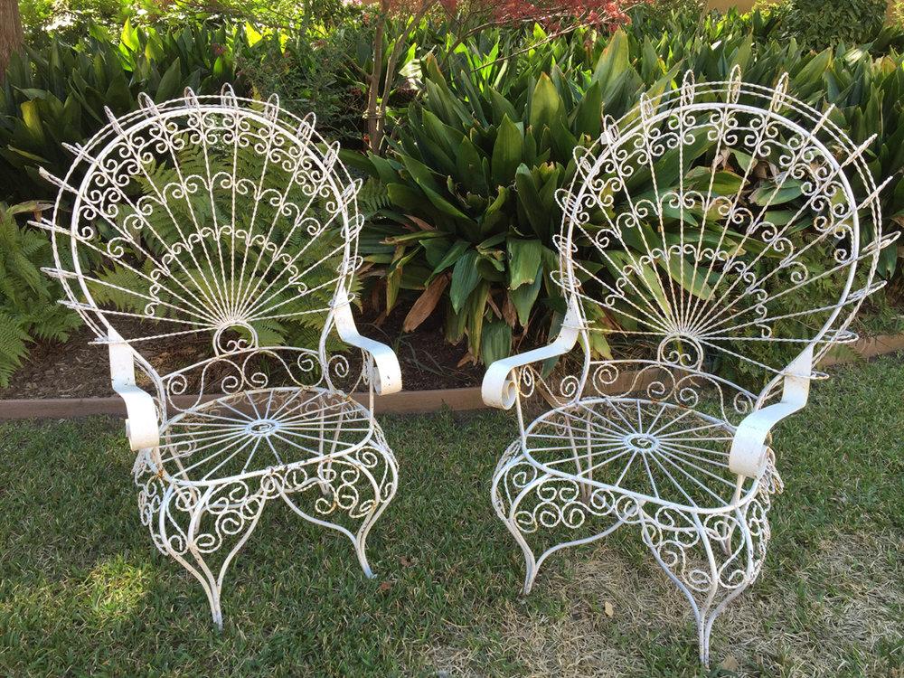 Vintage Peacock Chairs~Rental $40 each
