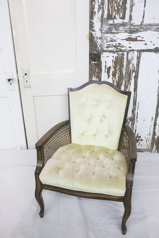 Light Green Cane Chair