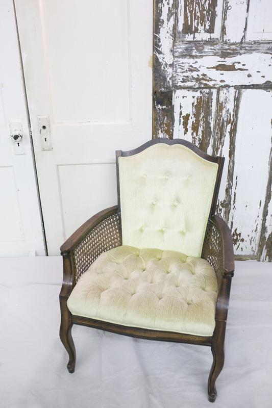 Light Green Cane Chair~Rental $25