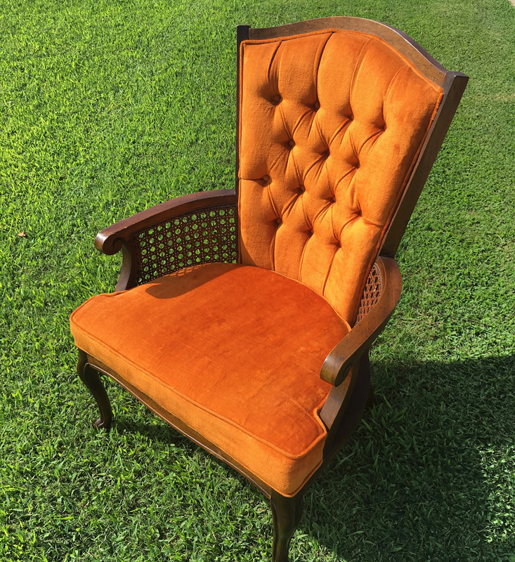 Orange Cane Chair