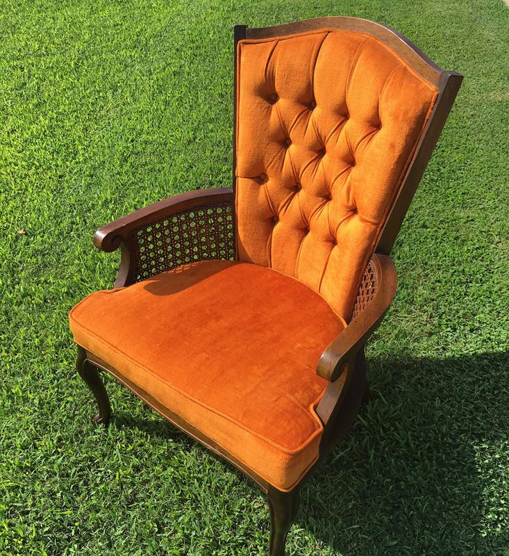 Orange Cane Chair~Rental $25