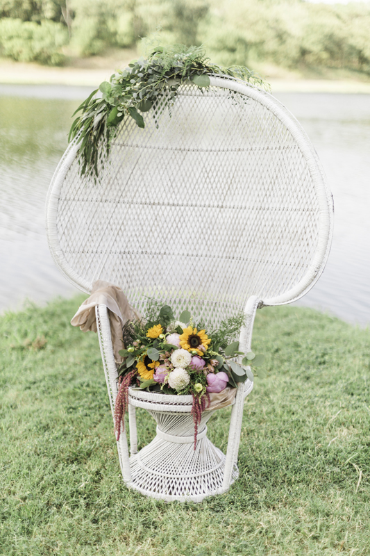 White Peacock Chair