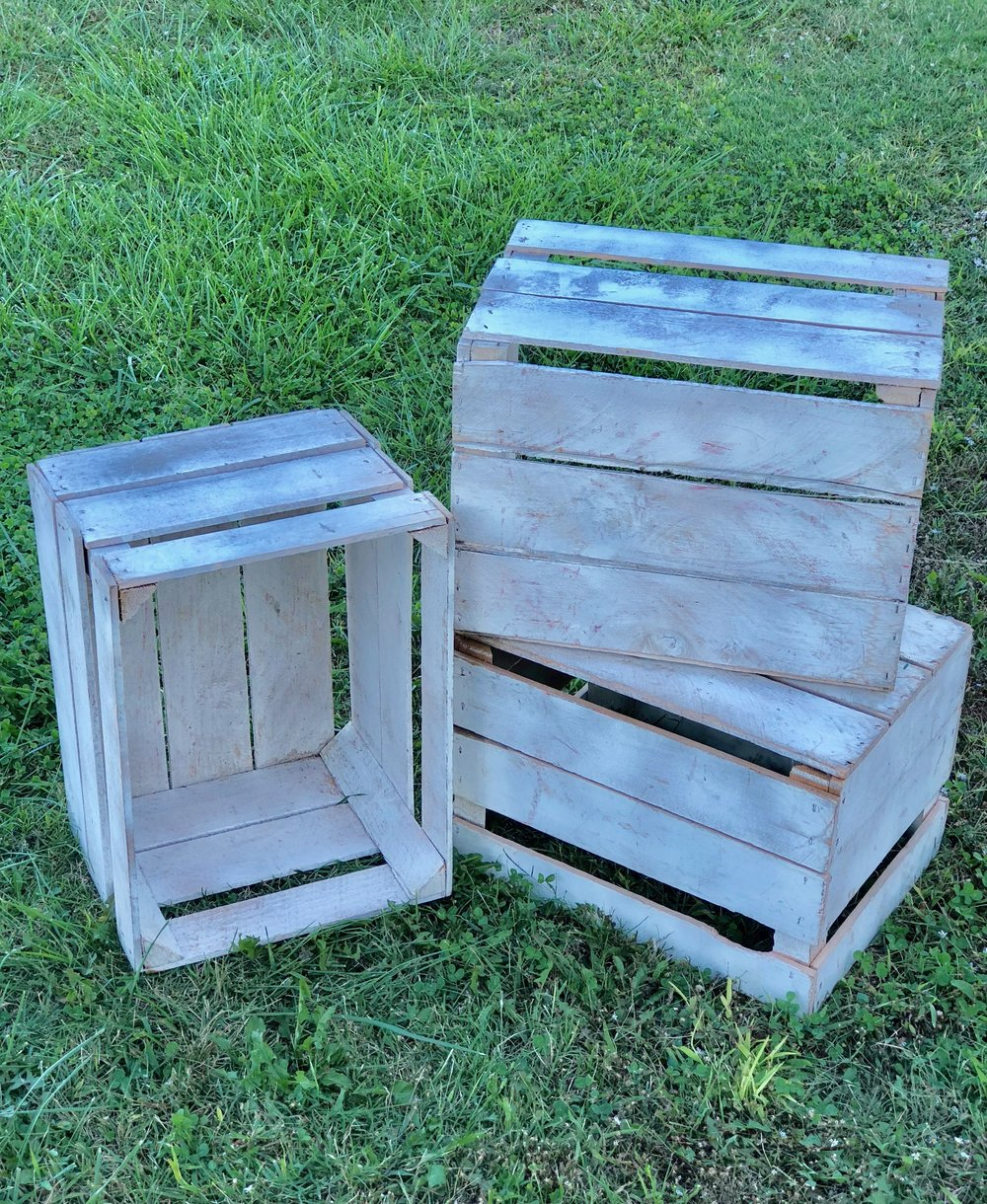 White Crates~Rental $8 each