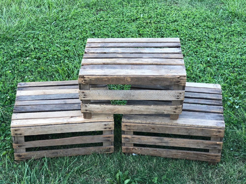 Apple Crates~Rental $8 each