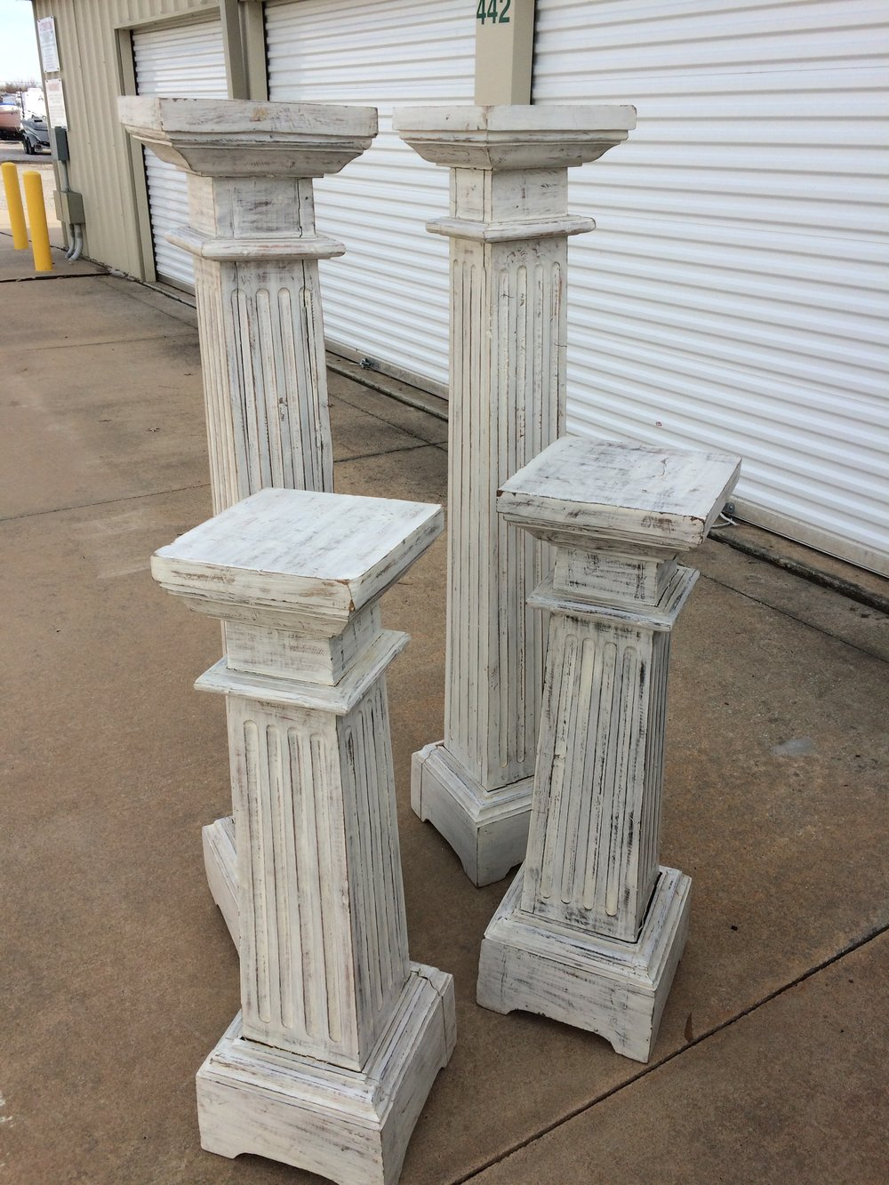 White Wood Columns~Rental $25 each