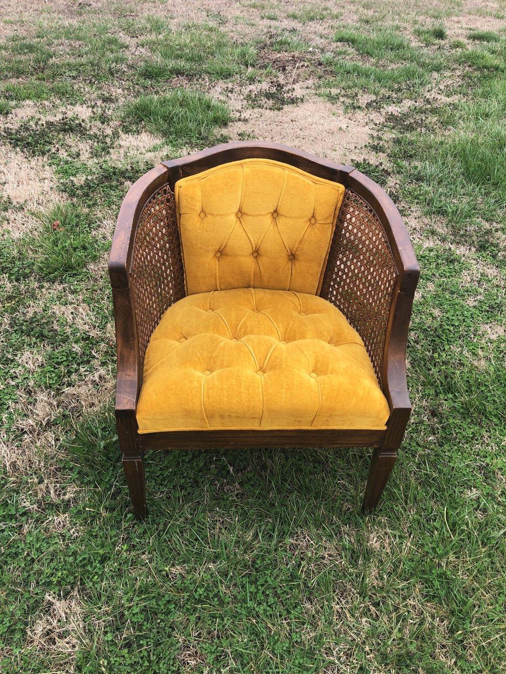 Yellow Cane Chair~Rental $25