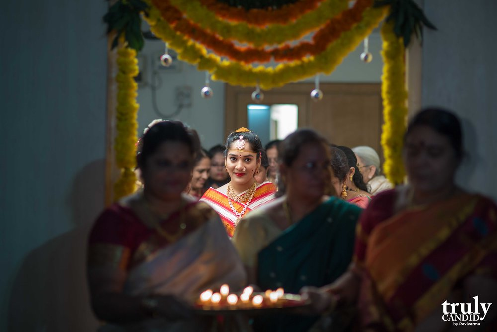 Harathipallem - Telugu Indian Bride entering the Mandap