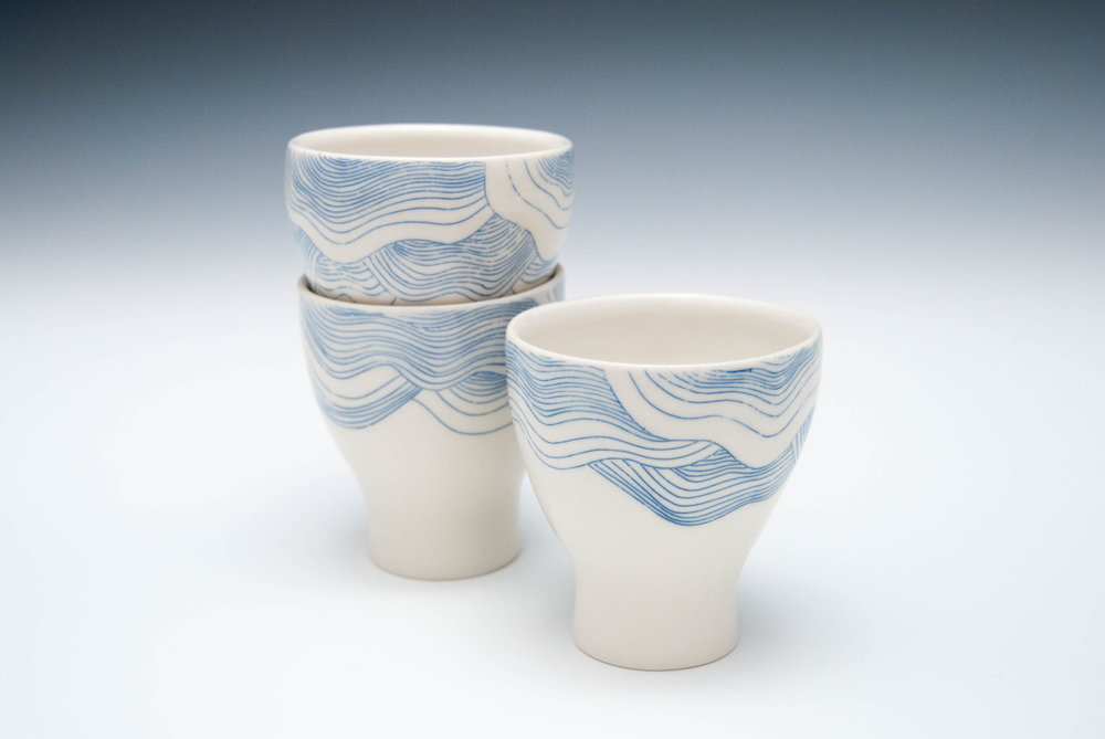 Wavy Juice Cups