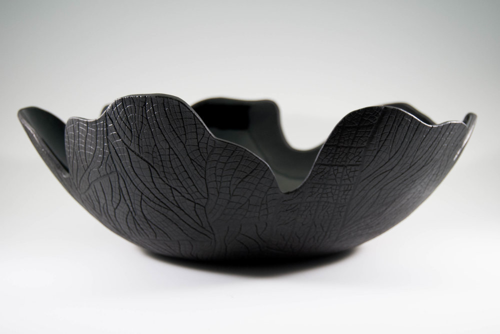 Burned Bark Charcoal Fruit Bowl