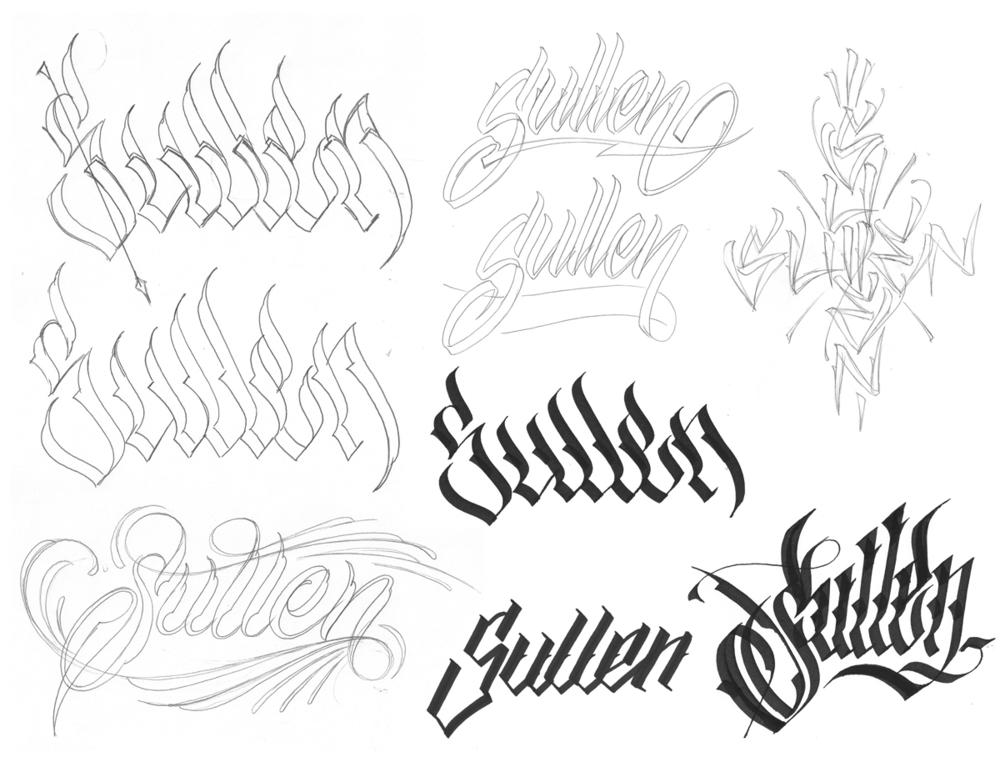 Sullen Lettering Hand Custom Sweyda 1
