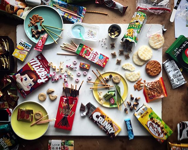 Well, this was fun - untold Japanese sweets, from matcha tea Kit-Kat to make-it-yourself space soup. #foodstyling for @japancentre with @stevenjoycephoto yesterday... the sugar-rush comedown has finally abated.