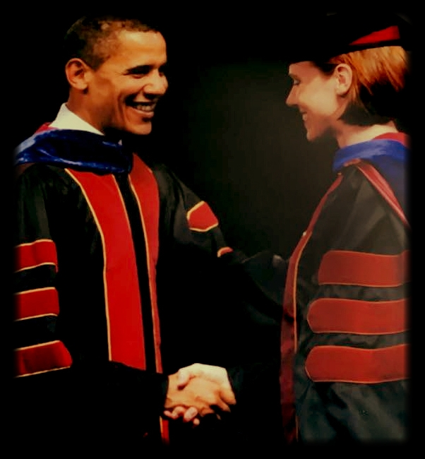 With President Barack Obama at my Ph.D. Commencement, 16 May 2009, Arizona State University