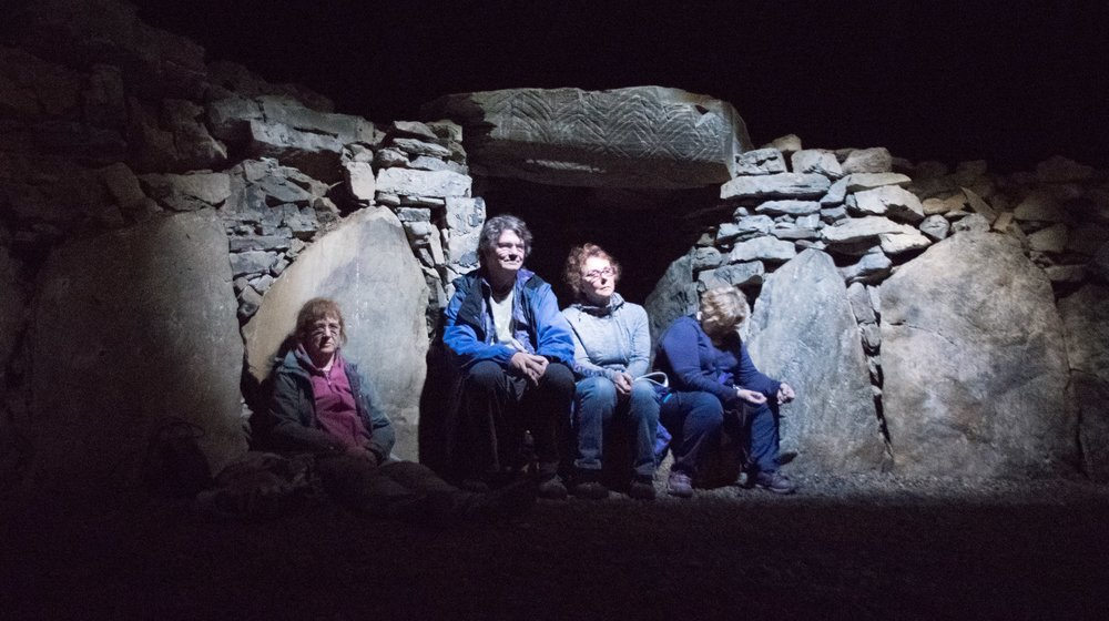 My friends inside the Cailleach's Cairn this summer
