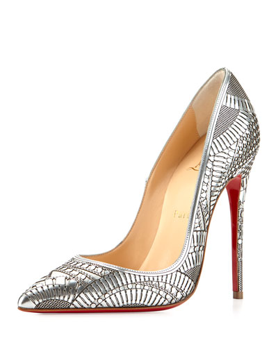 Christain Louboutin Kristali Heels: $1,195 at Bergdorf Goodman