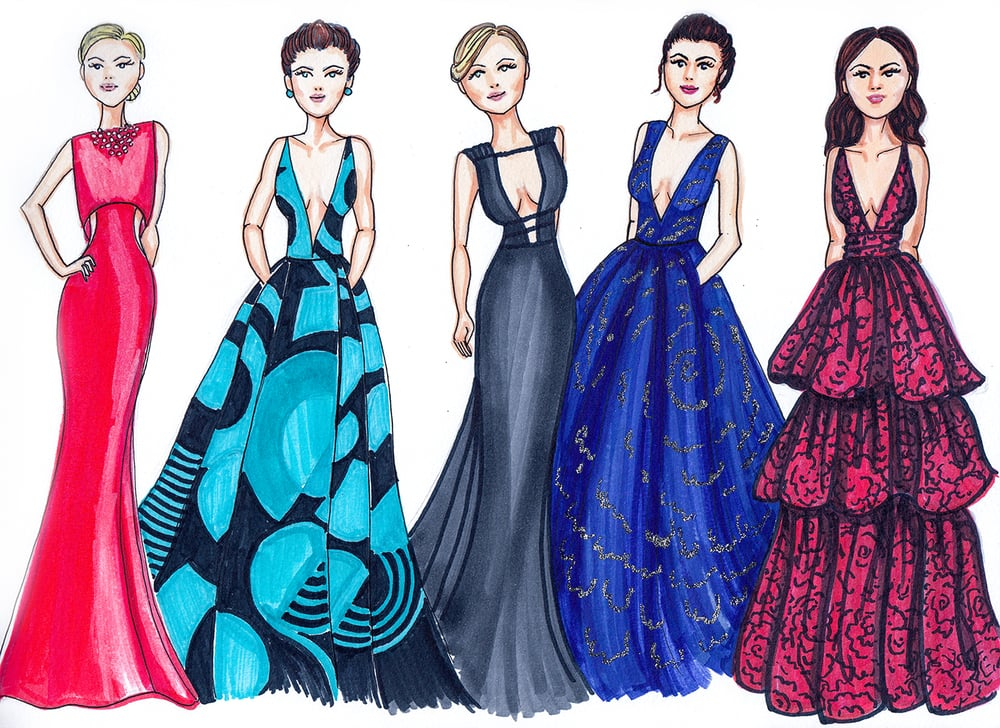 2016 Golden Globes Best Dressed by Dally Creativity Co. Artist Marissa MacLeod