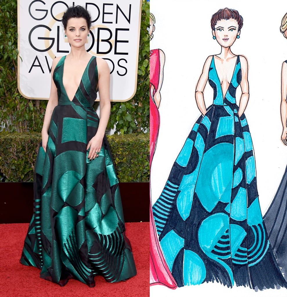 JaimieAlexander Golden Globes by Dally Creativity Co. Artist Marissa MacLeod