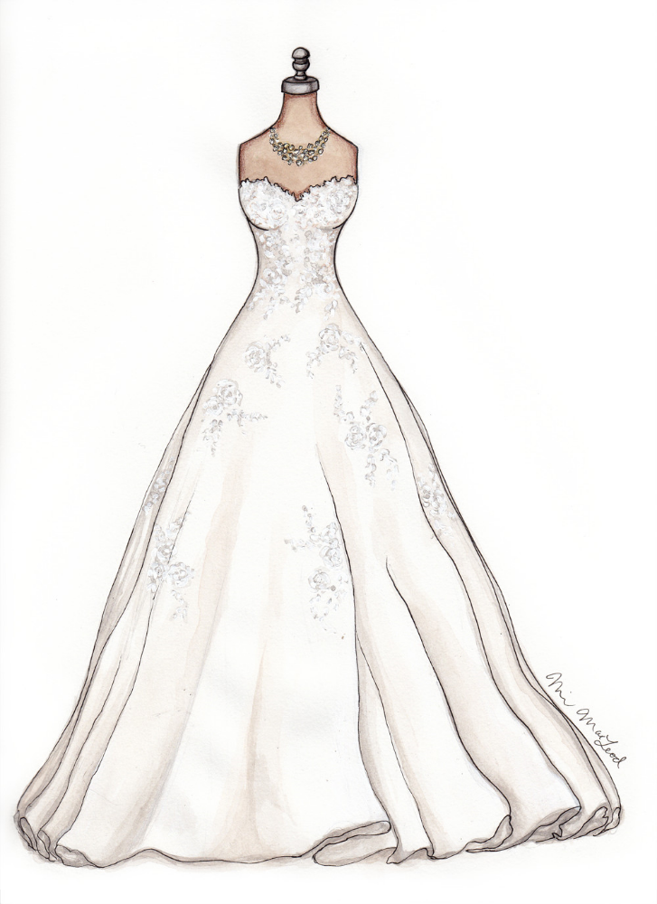 Watters Bridal Devenport Illustration by Marissa MacLeod of Dally Creativity Co.