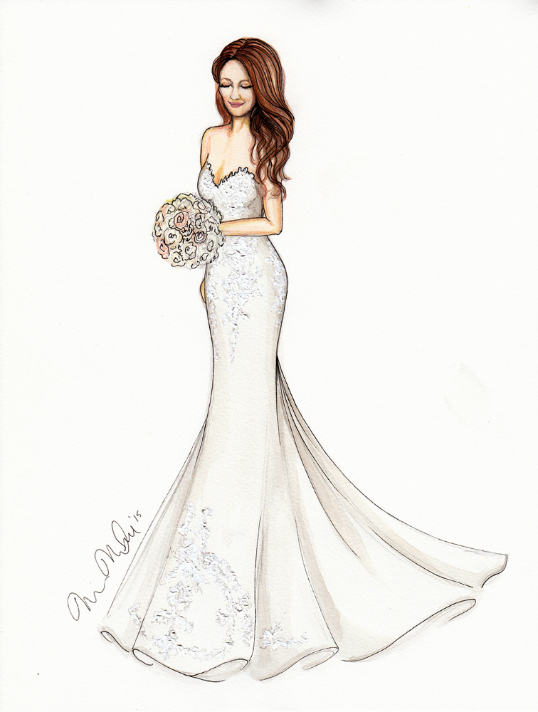 Betsy Bridal Illustration by Marissa MacLeod Dally Creativity Co.