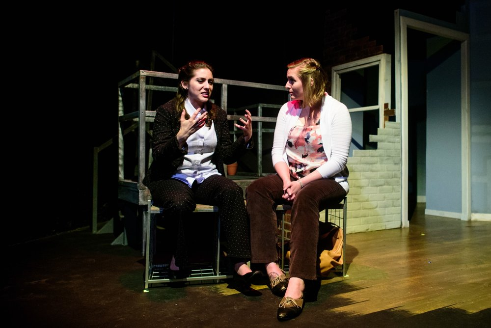 Rose Sengenberger (Ellen) and Alison Plott (Amy). Photo by Paul Goyette.