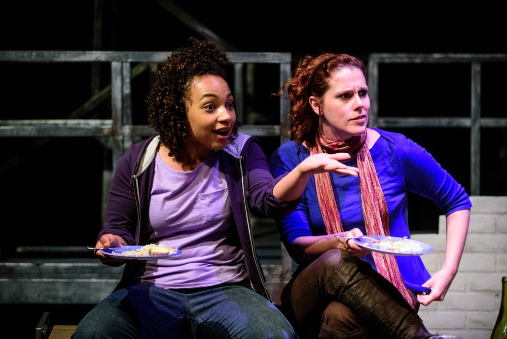 Samantha Newcomb (Tessa) and Adrienne Matzen (Kayla). Photo by Paul Goyette.