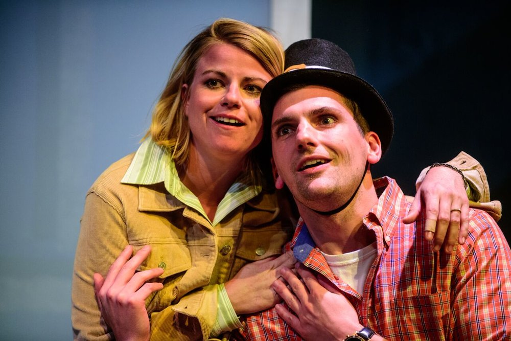 Erin O'Brien (Laurie) and Mike Newquist (Danny). Photo by Paul Goyette.