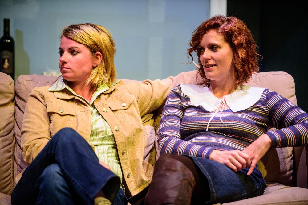 Erin O'Brien (Laurie) and Adrienne Matzen (Kayla). Photo by Paul Goyette.