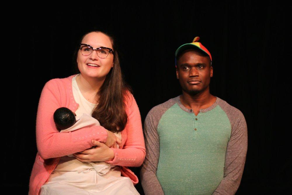 Angela Horn (Chorus 1) and Raymond Jacquet (Bob). Photo by Cody Jolly.