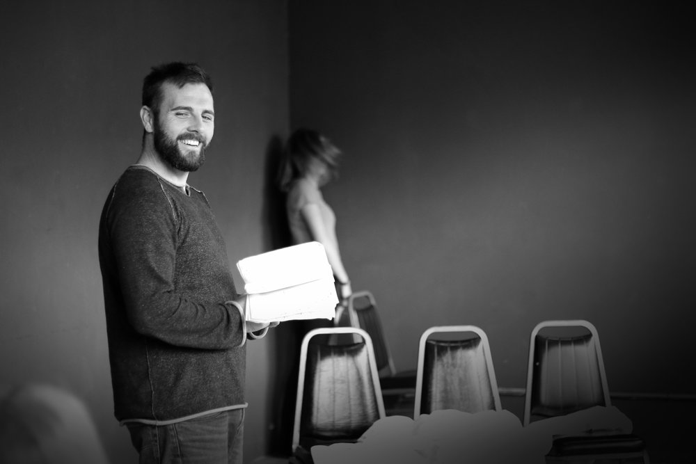 Mickey O'Sullivan in rehearsal for  Dying City . Photo by Cody Jolly.