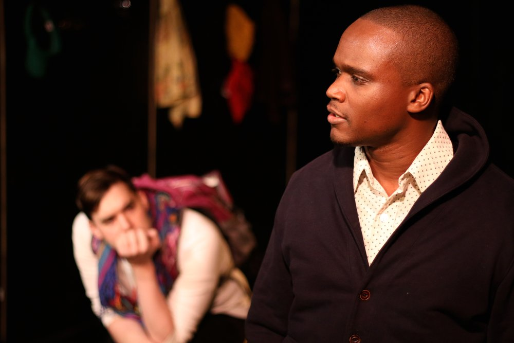Bryan Renaud and Raymond Jacquet in  BOB: A Life In Five Acts . Photo by Cody Jolly.