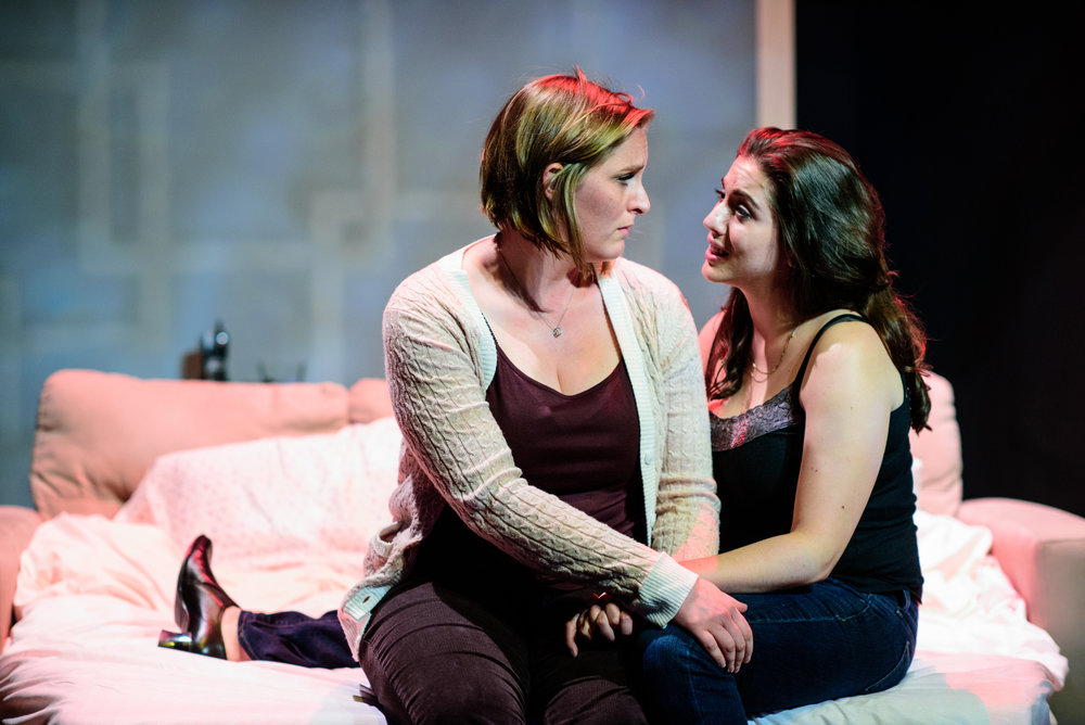 Alison Plott and Rose Sengenberger in  In The Wake . Photo by Paul Goyette.