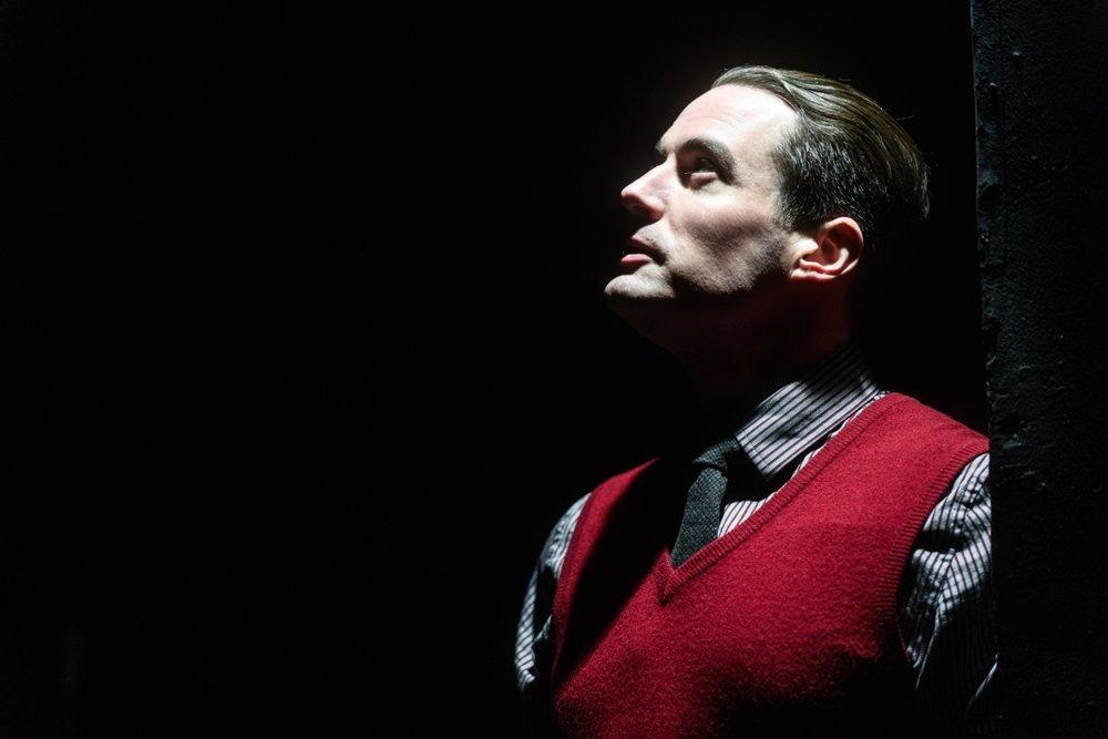 Bryan Breau in DEAD MAN'S CELL PHONE. Photo by Paul Goyette.
